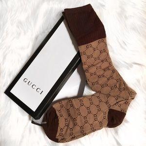 Brown Knee-High Luxury Socks 🧦